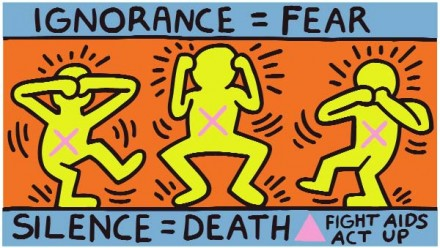 Keith Haring AIDs Poster